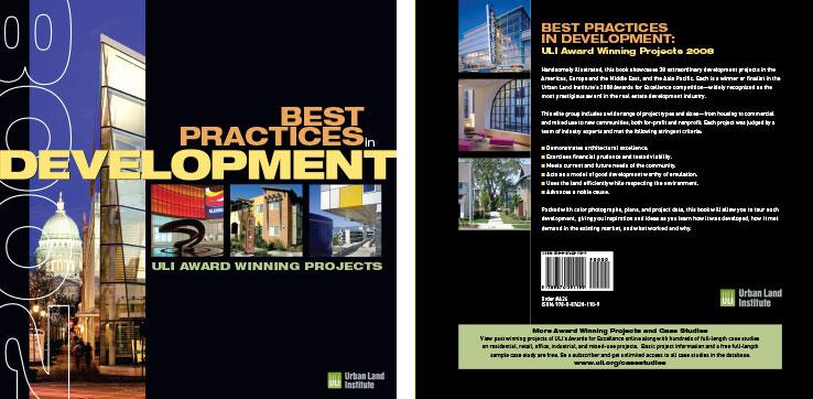 Book Design Portfolio: Architecture, Urban Development Book: ULI Awards Book