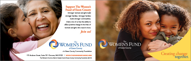 Marketing Collateral Design Portfolio: Brochure: The Women's Fund of Essex Country