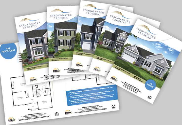 Marketing Collateral Design Portfolio: Real Estate Brochure Series: DiBiase Homes