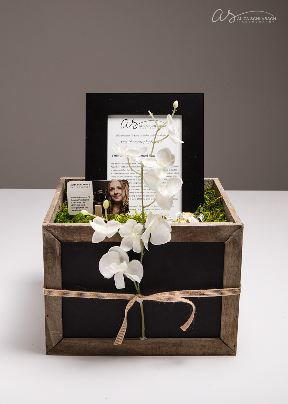 Auction and Gift Certificate Box by Aliza Schlabach Photography | Ardmore, PA