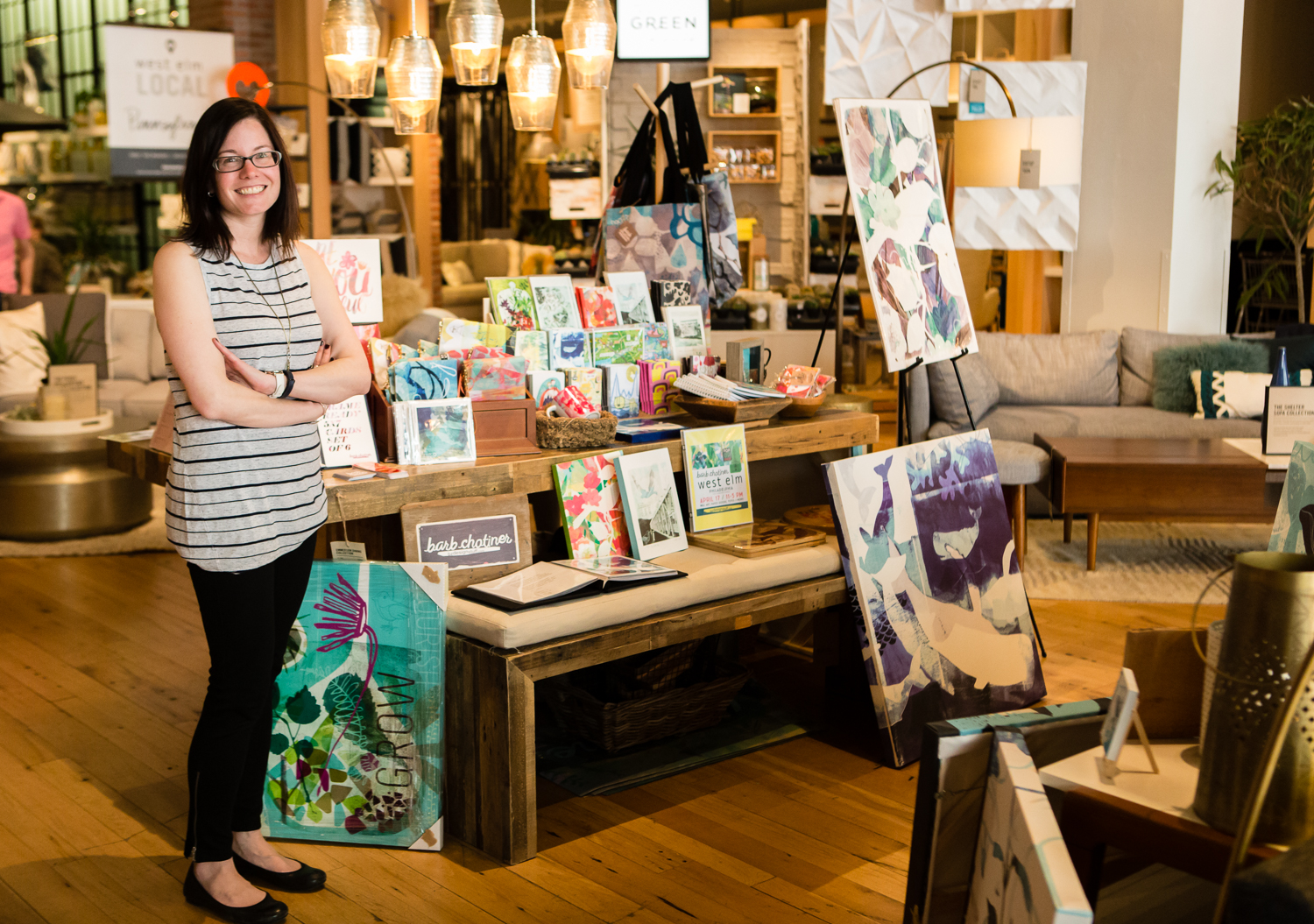 Barb Chotiner at her West Elm Philly pop up shop on April 17, 2016
