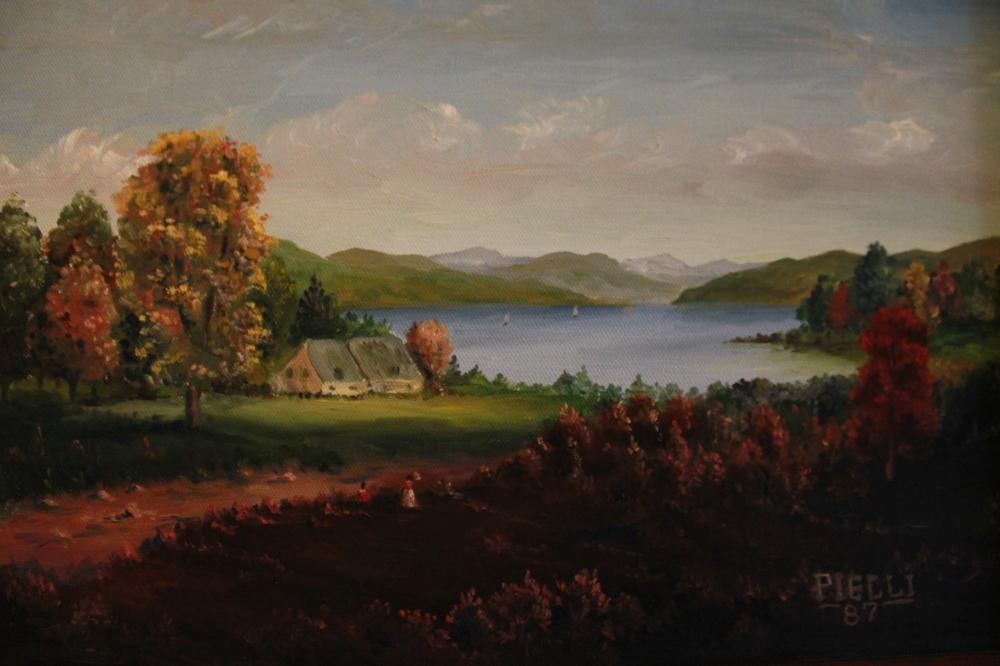 A Hudson River scene by Eugene Pielli