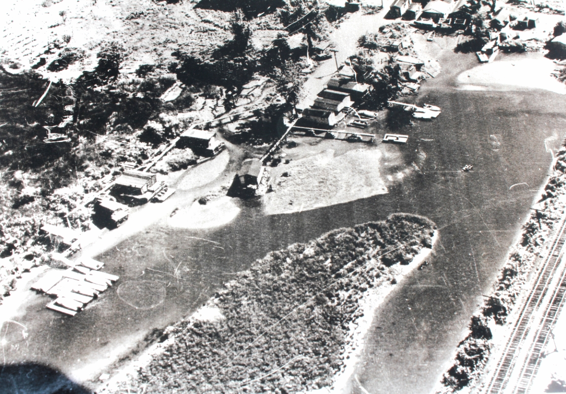 An aerial photo of Shantytown in the 1960s,provided by Leo Bower.