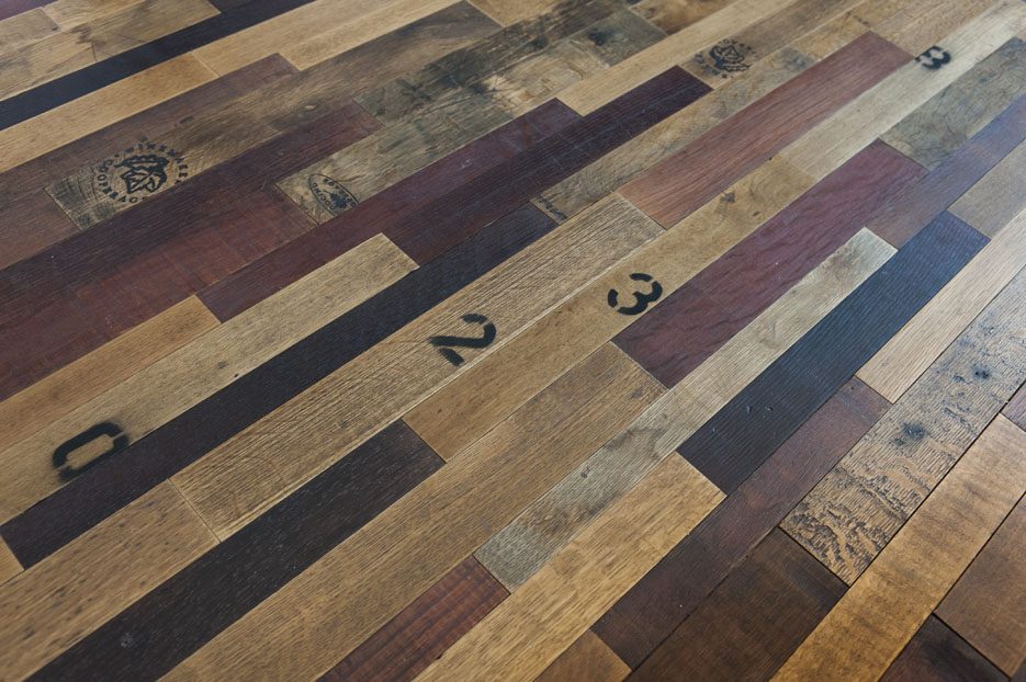 wine barrel floors