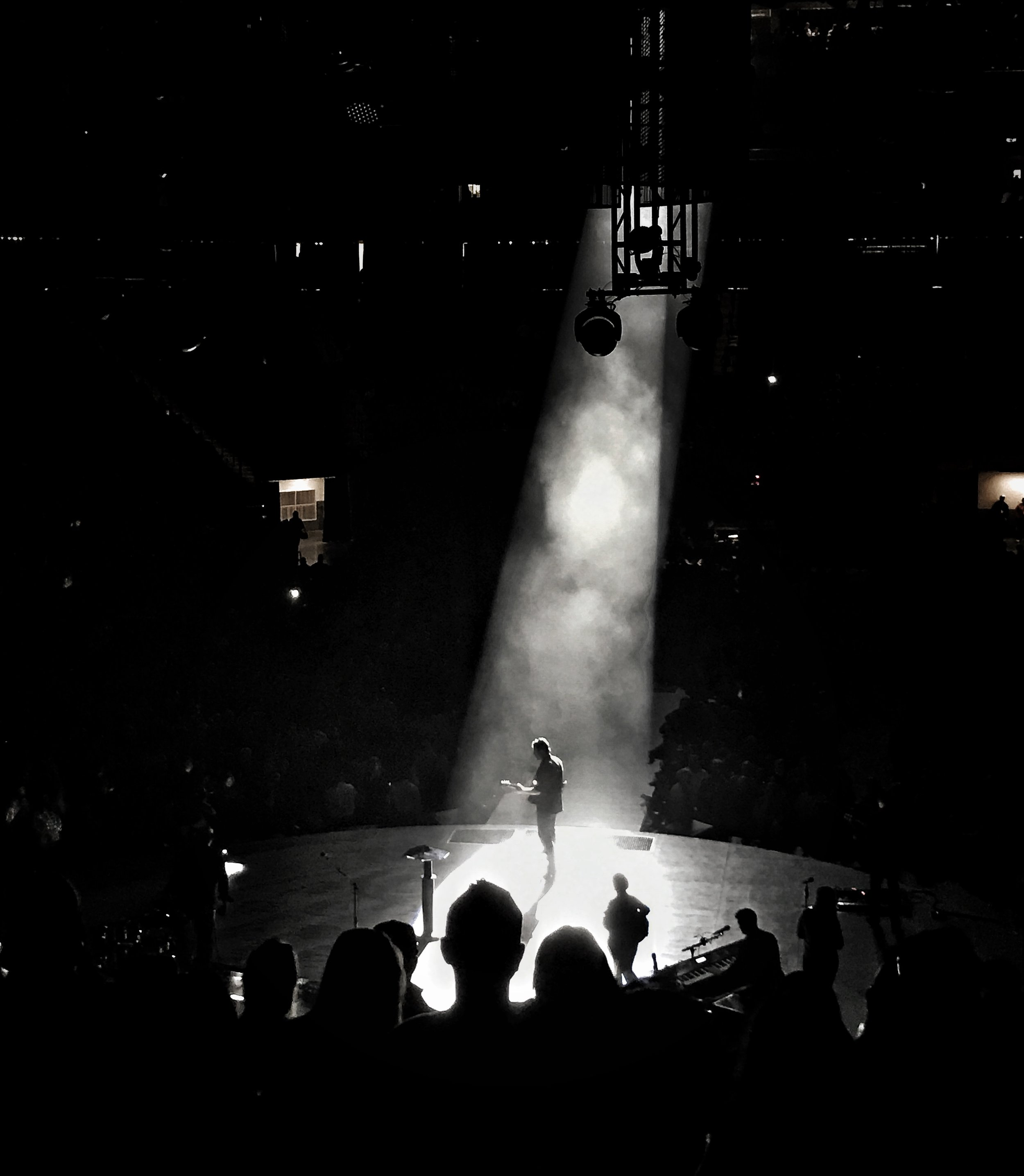 "Blake Shelton graces Golden 1 Center in Sacramento, California while performing his first song ever release ""Austin"" at his  Doing It to Country Songs Tour ."