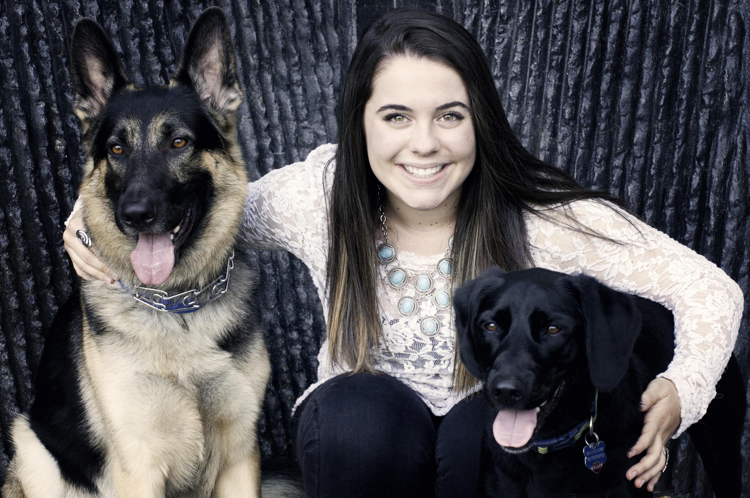 Ray Family Photos-Angela and dogs.jpg