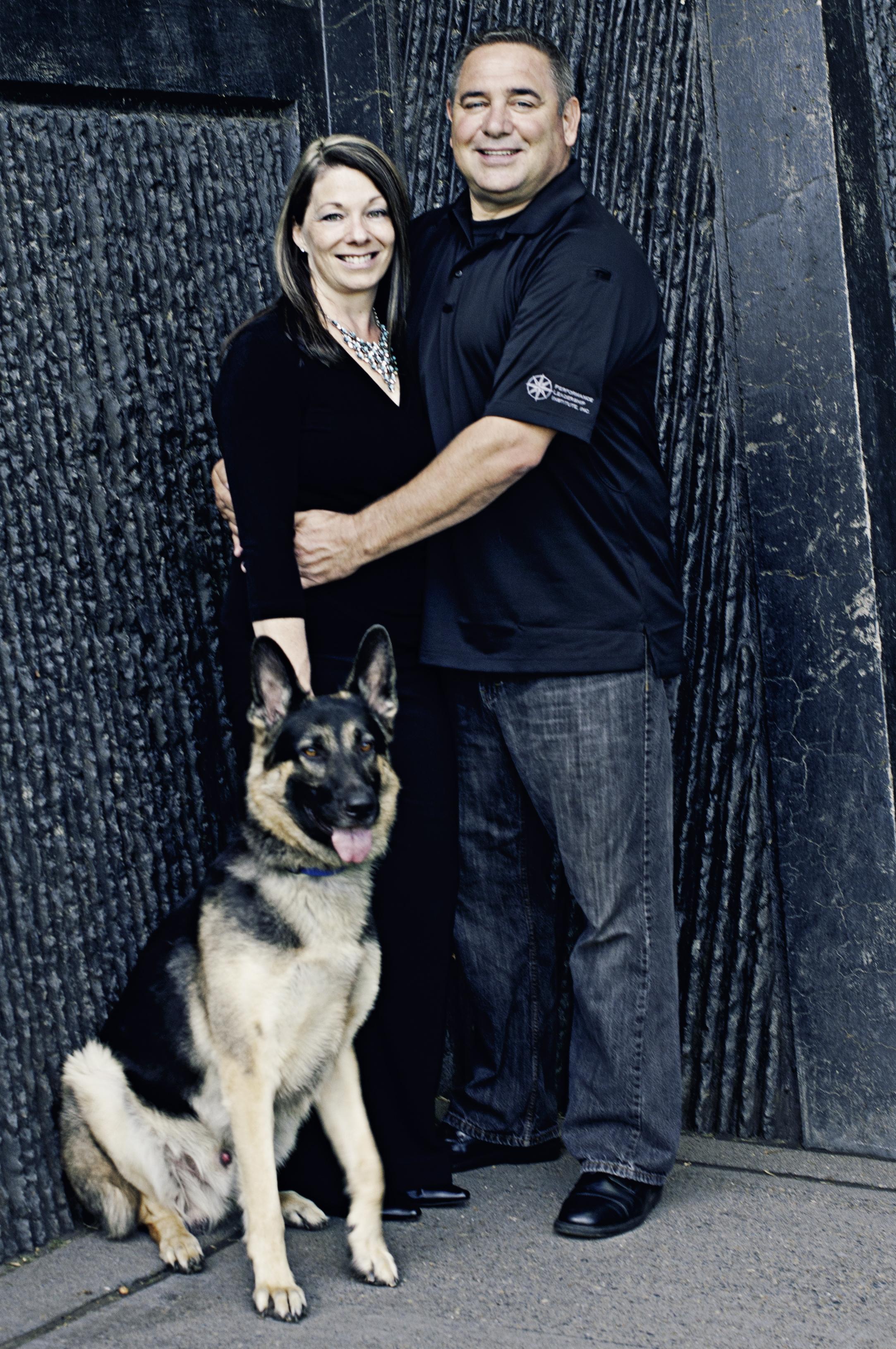 Ray Family Photos-Jamie, Bob, Koda standing.jpg