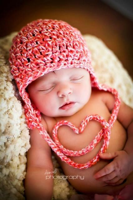 Crochet Heart Baby Hat HuggaBean