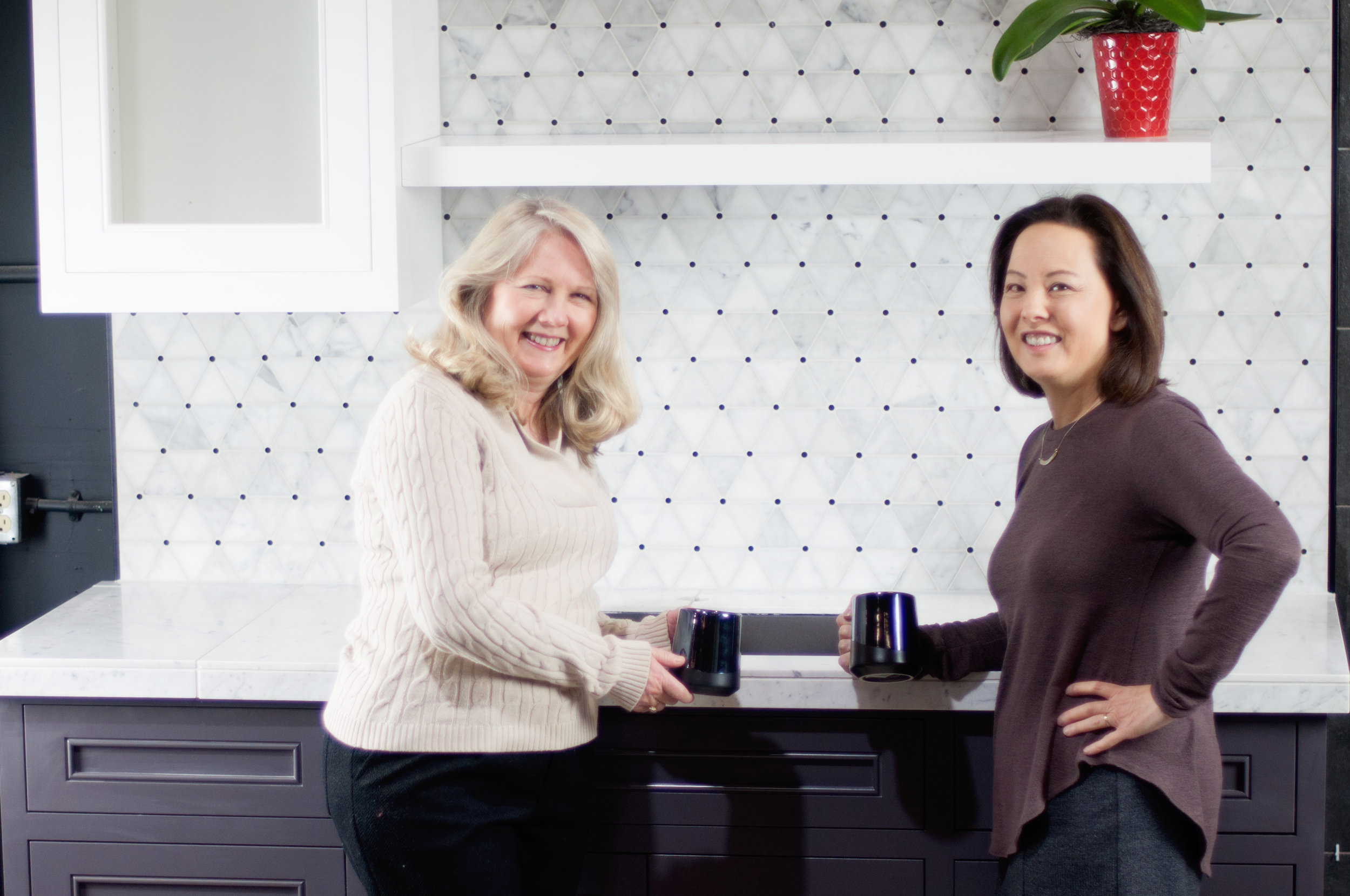 Caryl and Diana In Front of Kitchen Vignette.jpg