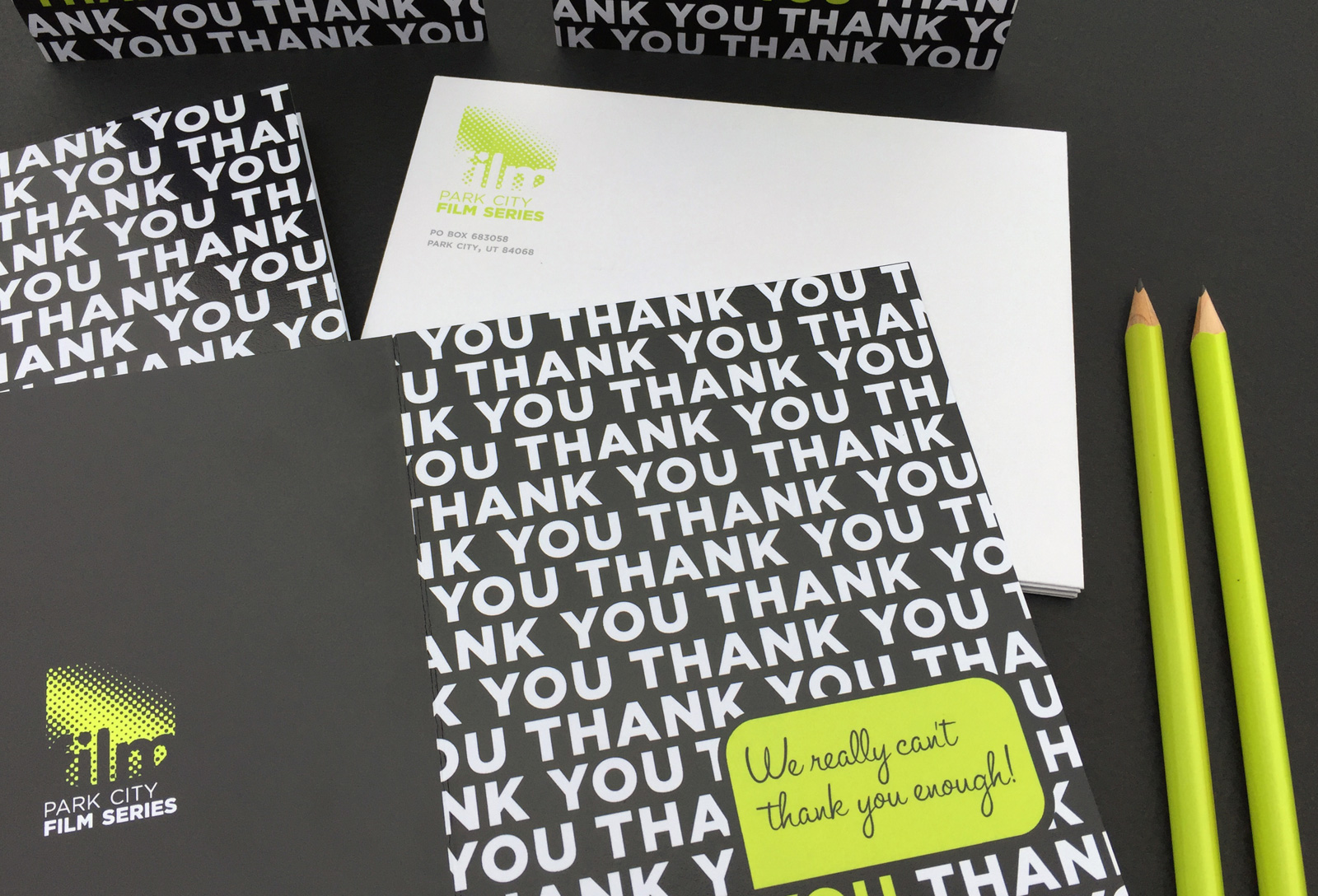 Thank you card + envelope