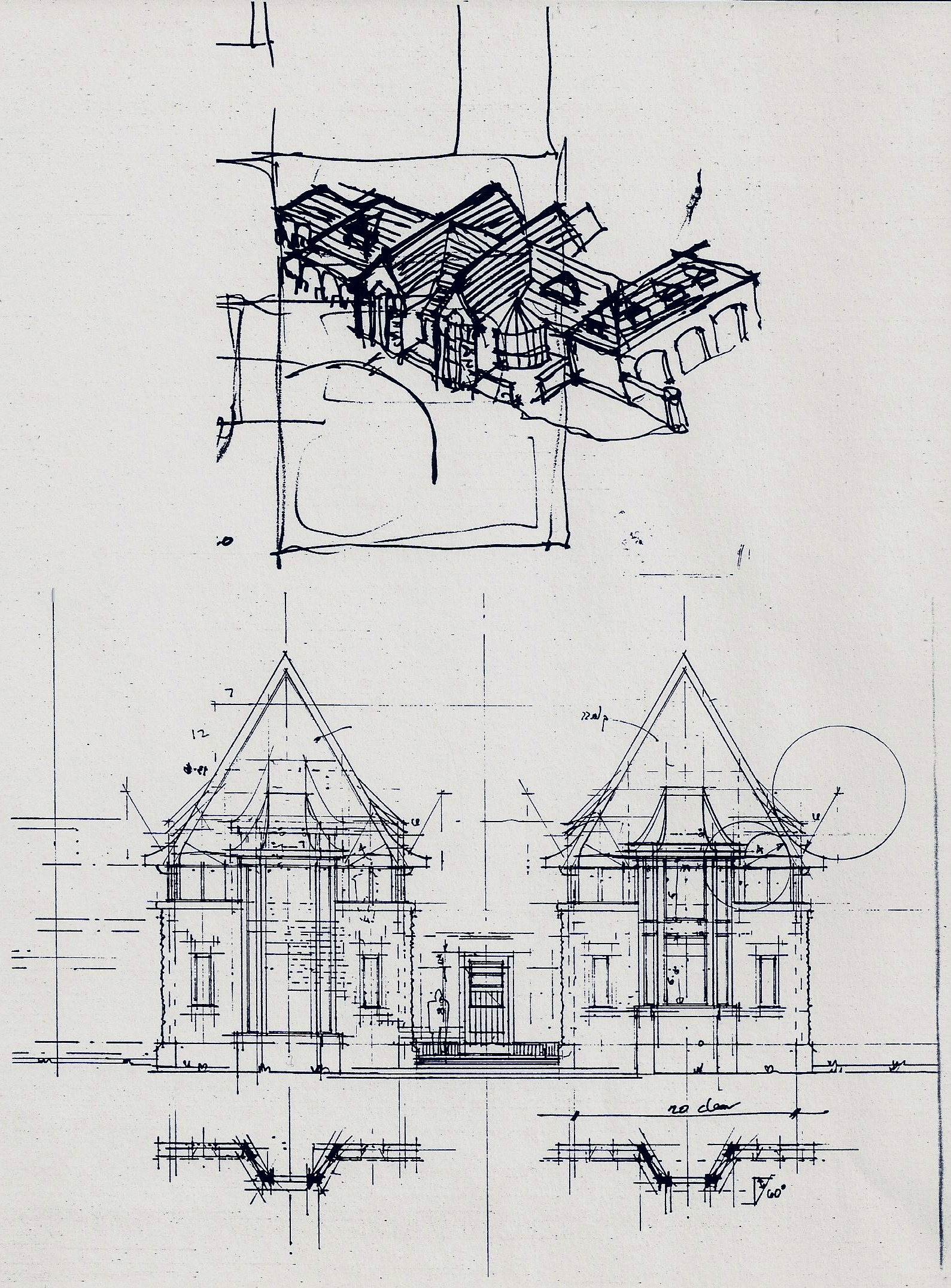 Early conceptual sketches