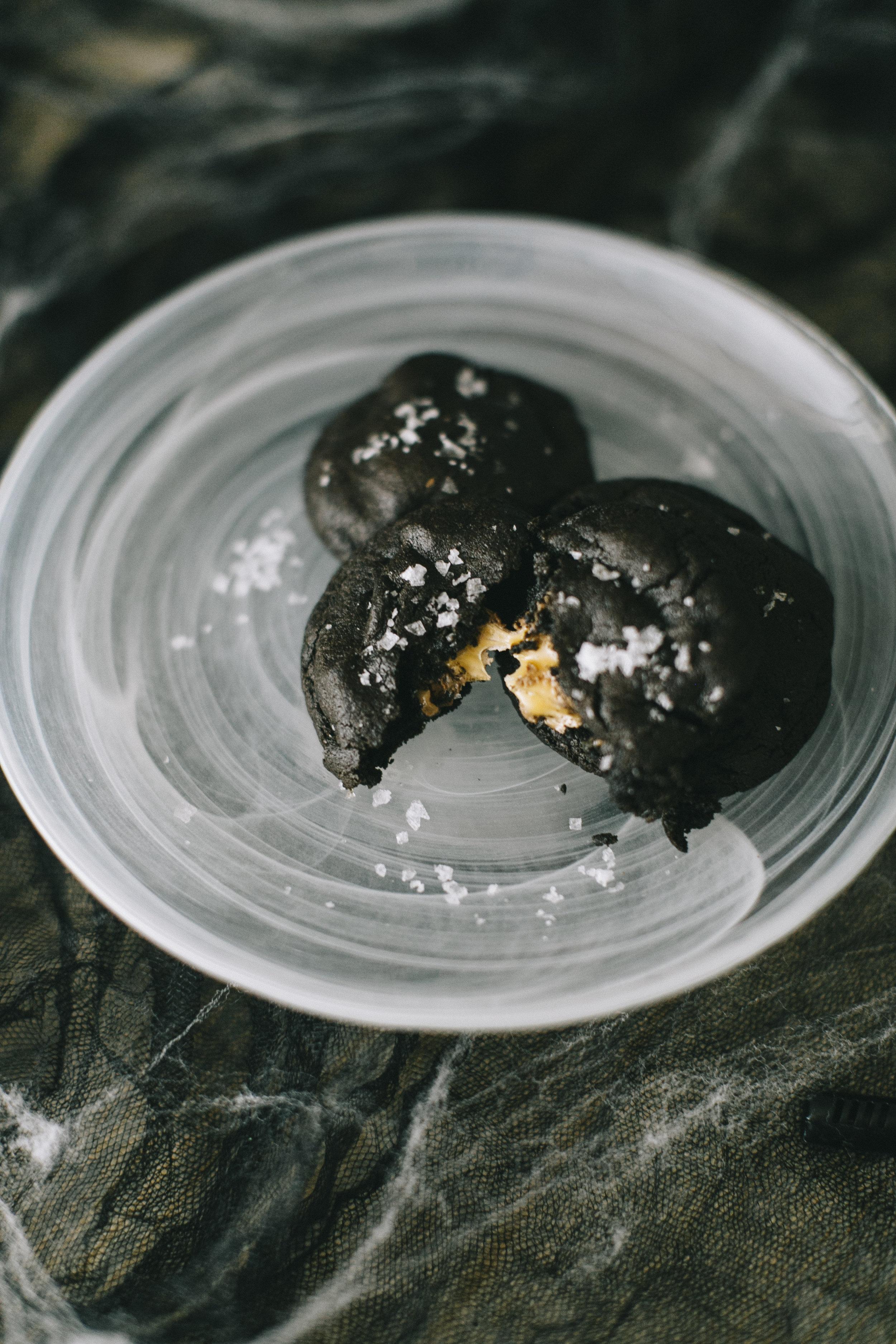 Chocolate Sea Salt Caramel Cookies