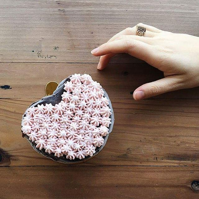 Valentine's Day is coming up fast! It's not too late to order a mini heart ice cream cake to celebrate. Orders will be closed after Monday, February 11th. Each cake is made with our dark dark chocolate ice cream filled with homemade raspberry jam on top of homemade chocolate cake and topped with raspberry whipped cream and fudge. We also have a vegan option available made with our dark chocolate sorbet! 📷: @nishatnguyen
