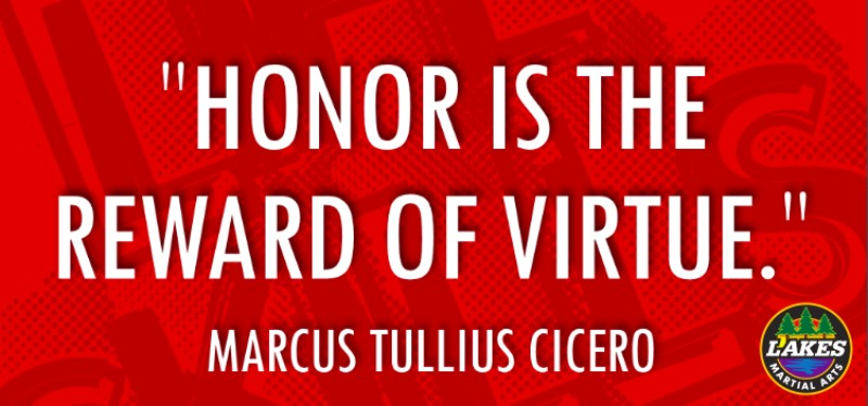 Honor means doing the 'right' thing.