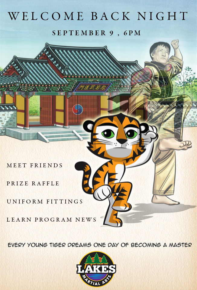 Lakes Martial Arts in Minneapolis will host Welcome Back Night on Sept 6 at the Pershing Recreation Center, a great chance to meet friends, win prizes, and learn about exciting new program news!