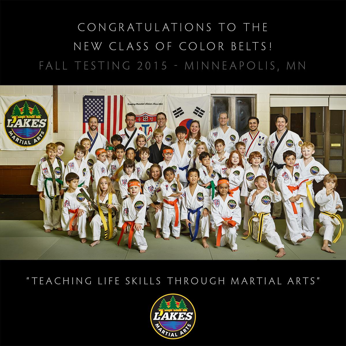 Lakes Martial Arts Fall Testing 2015 in Minneapolis, MN.