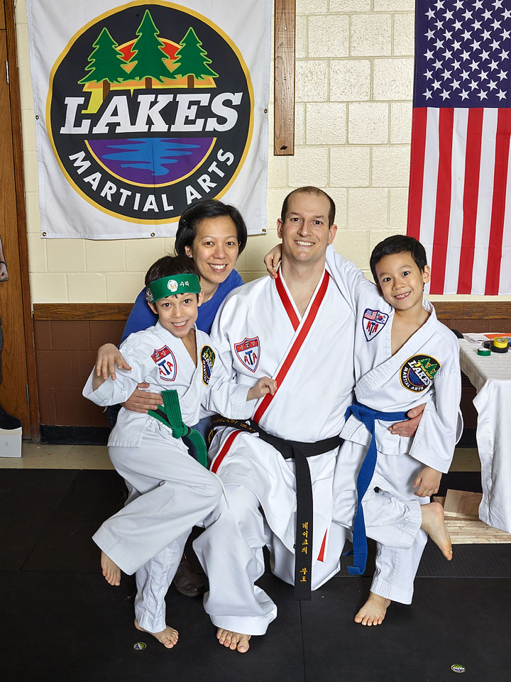 Congrats to the Hogen-Chin on their first black belt! I see three more black belts in your future! This family believes that families that kick together, stick together!