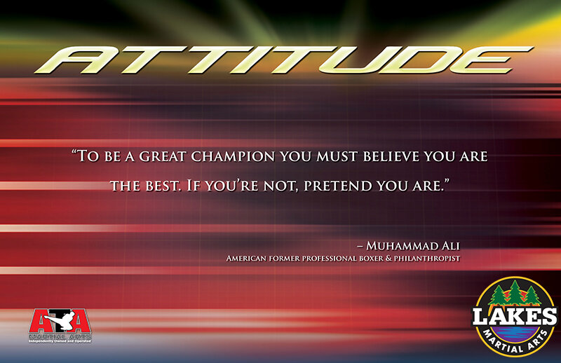 """""""TO BE A GREAT CHAMPION YOU MUST BELIEVE YOU ARE THE BEST. IF YOU'RE NOT, PRETEND YOU ARE,"""" SAID BOXER AND PHILANTHROPIST MUHAMMAD ALI."""