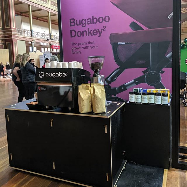Day two at One Fine Baby in Melbourne, treating Bugaboo owners to a coffee or two. - - #bugaboo #coffee  #coffeeholic #coffee☕ #coffee_time #coffees #coffeetime☕ #coffeephotography #coffeecoffeecoffee #tea #eventcoffee #corporateevents #melbourne #melbourne🇦🇺 #melbournecafe #melbourneaustralia #cafeinabox #mobilebarista #coffeecarthire #melbournecoffeecarthire