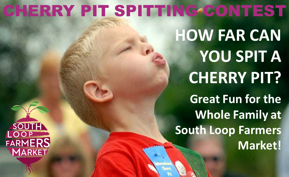 Cherry Pit Spitting Contest - Each year, before cherry season come to an end, we invite young and old to join the fun of spitting cherry pits for bragging rights and prizes. Stay tuned for contest date and details.