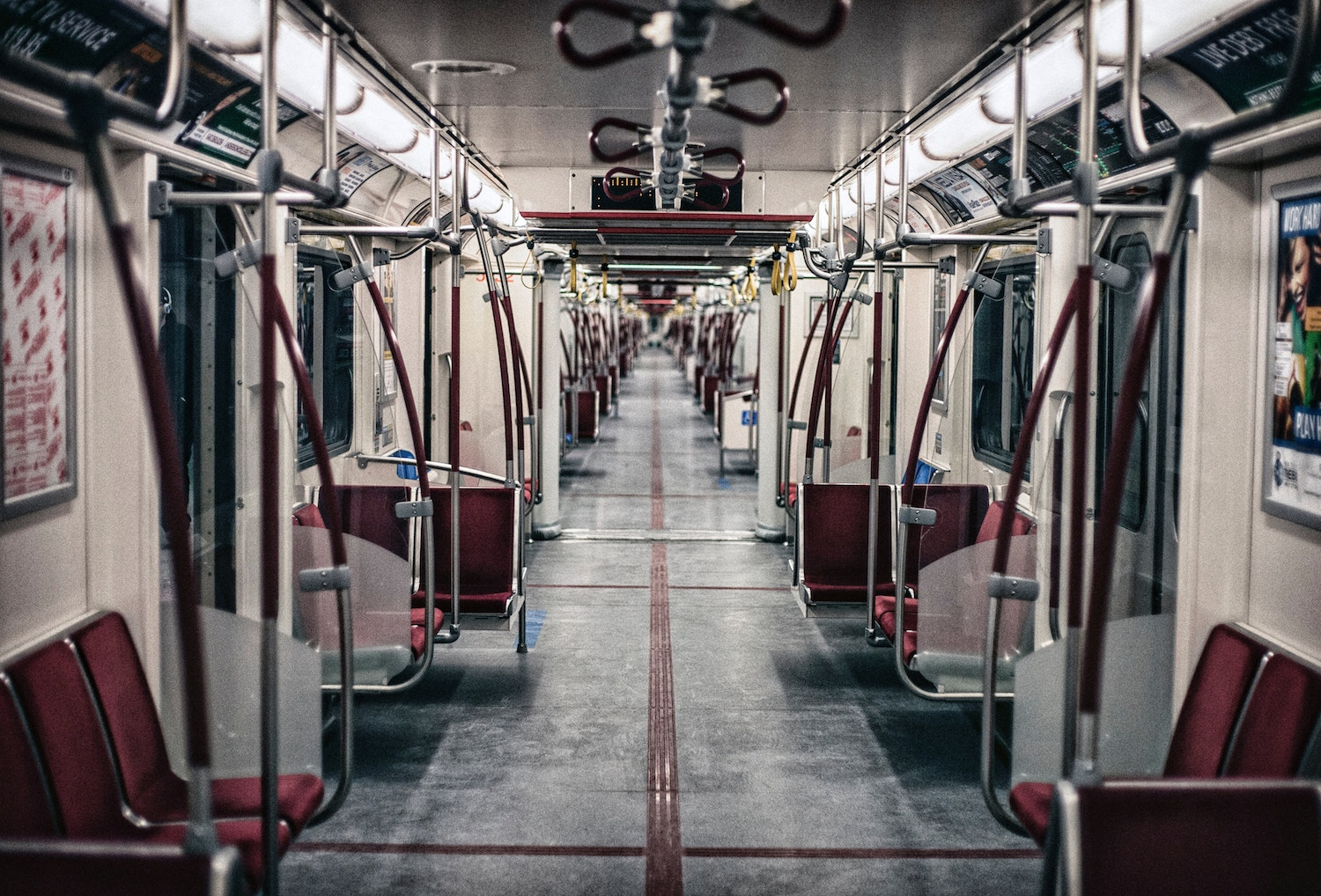 empty seats on a public train