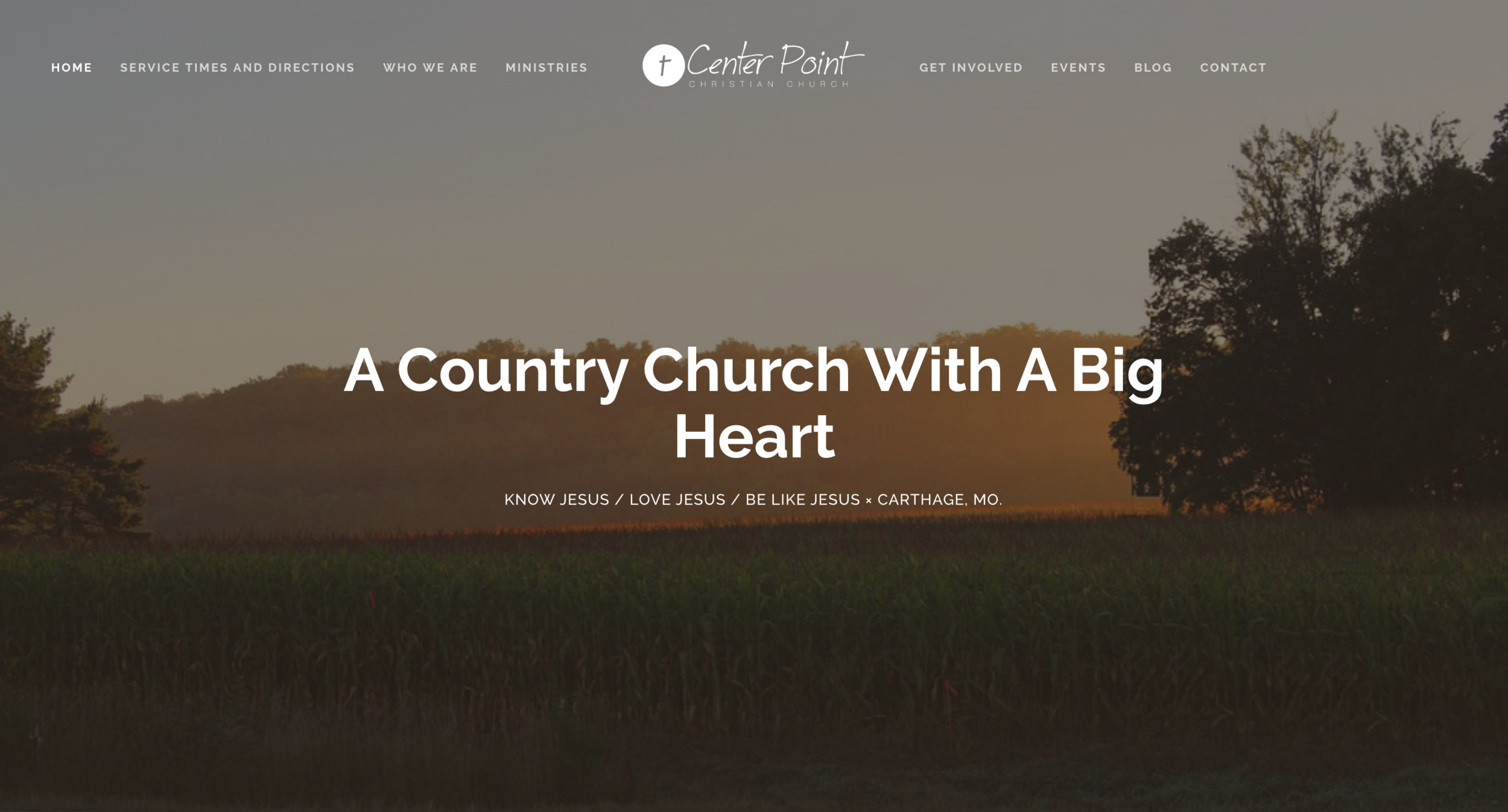 Christian Church Website: Center Point Christian Church