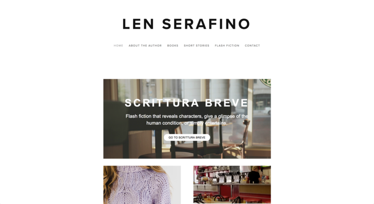 LEN SERAFINO | author in Tennessee.  updated their website with Huson Creative.