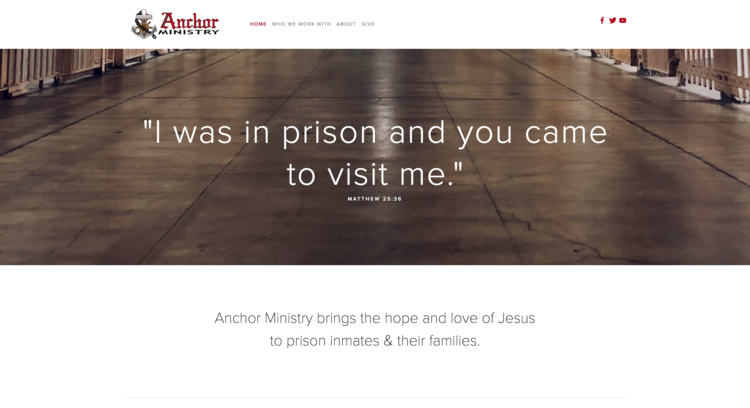 ANCHOR PRISON MINISTRY | nonprofit in Washington.  designed & updated their website with Huson Creative.