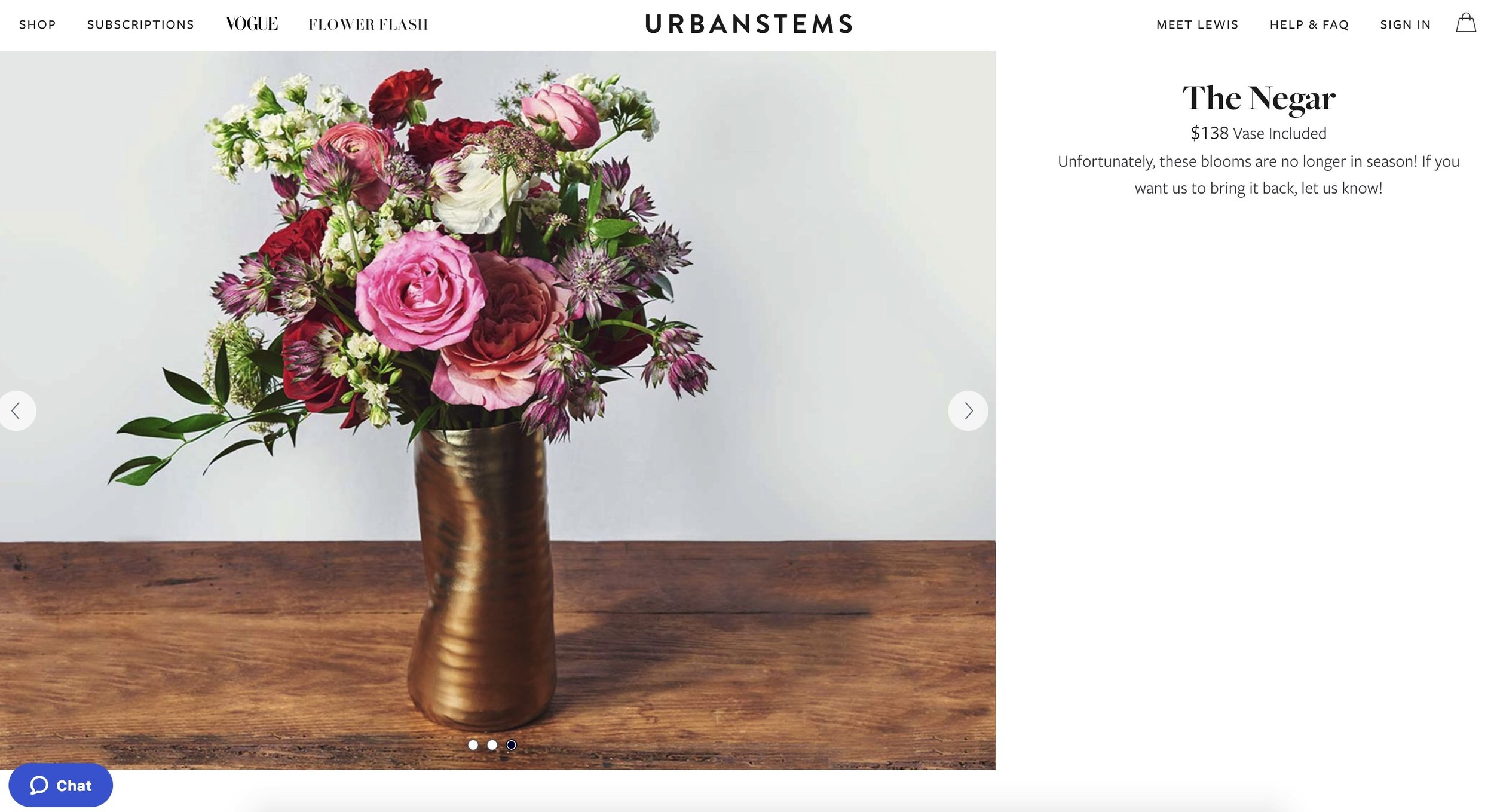The Negar Arrangement from Vogue x Urbanstems.  Gorgeous, Bold and Modern!