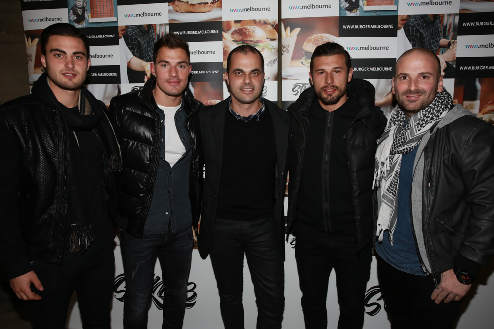 STKBB |Rabih Yanni joined by good friend and industry colleague George Calombaris and soccer stars James Troisi, Kosta Barbarouses and  Jesse Makarounas
