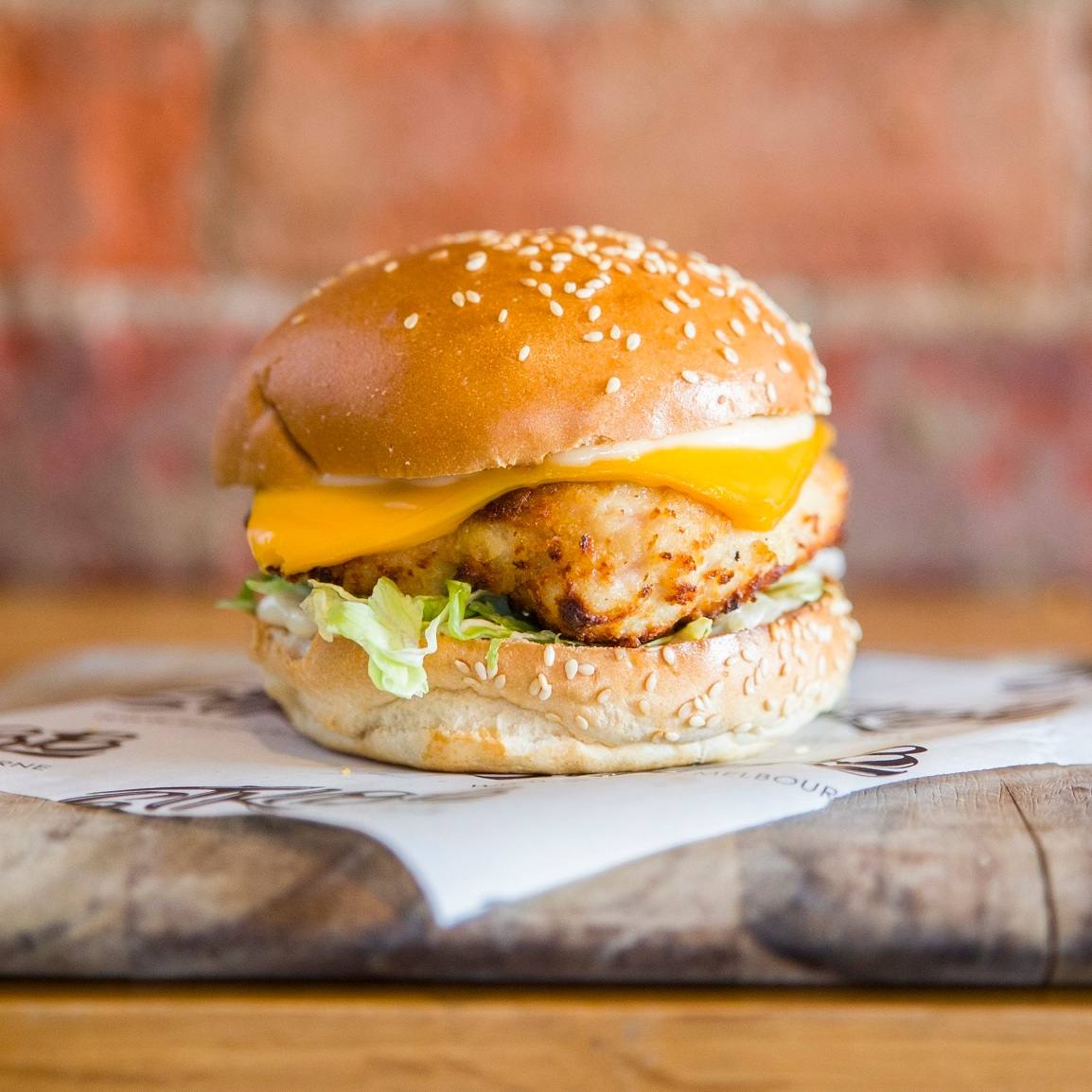 kids crumbed chicken - Cheese, lettuce, mayo$8