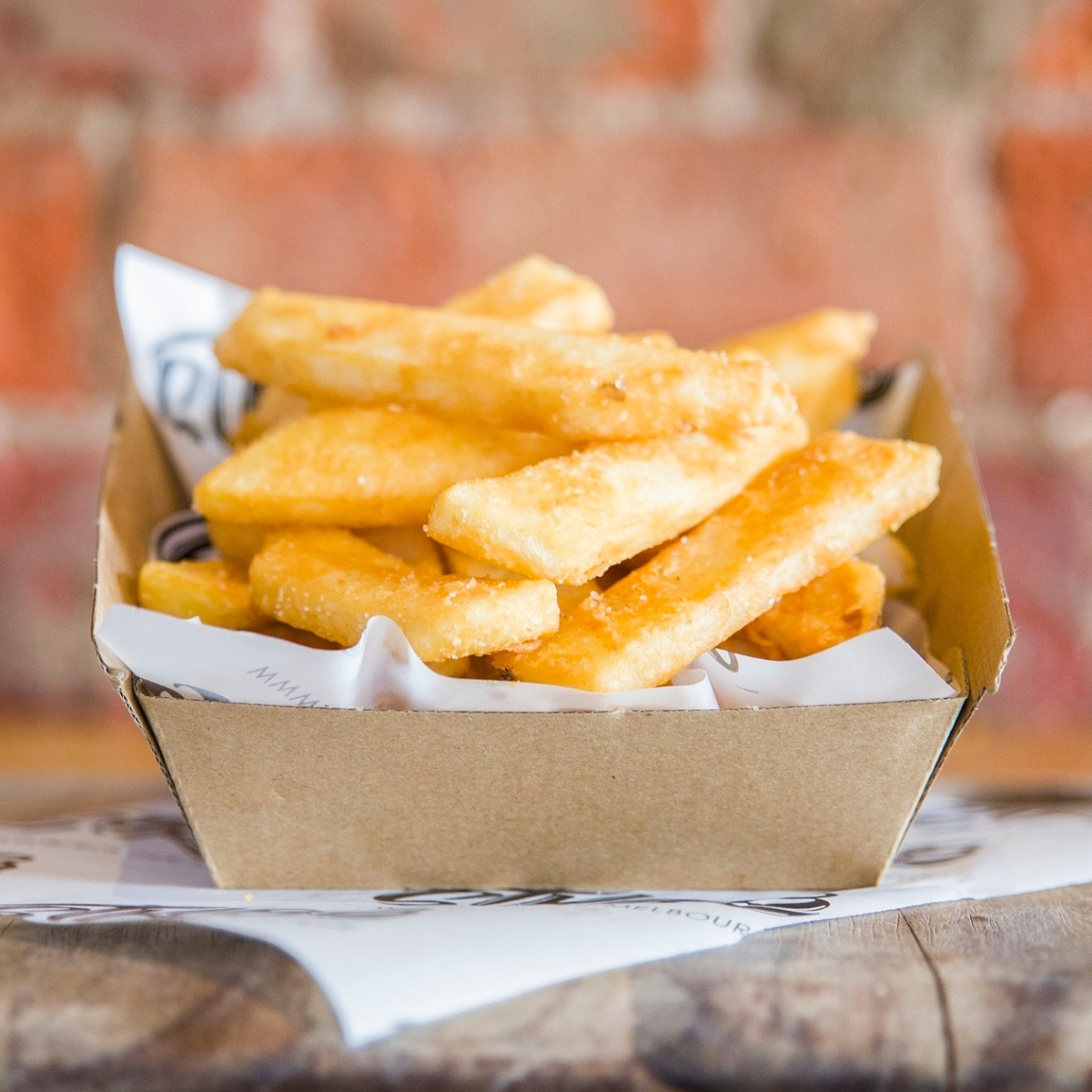 BEER battered chips - $4LOAD YOUR CHIPS+ CREAMY CHEESE+ $2.50+ CANDIED BACON+ $2.50