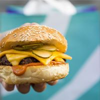 CHEESE BURGER - Beef, double cheese, pickles, house ketchup$12