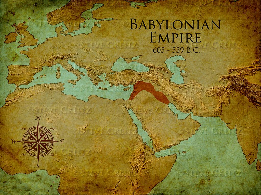 Babylonian Empire Map Hd Creitz Illustration Studio