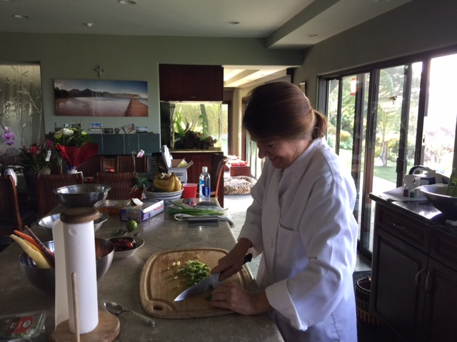 Sous Chef Ann Hessell at work