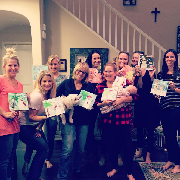 Dec. 2015  Private Holiday Paint Party in San Juan Capistrano