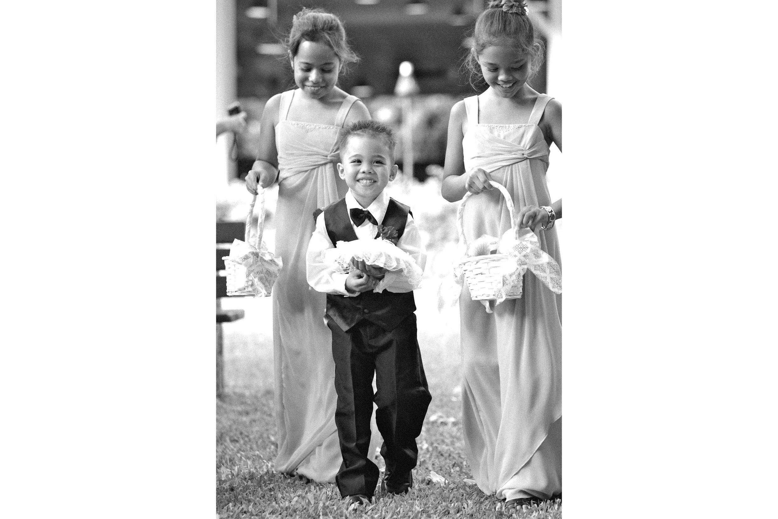Black and White Wedding Photography Children