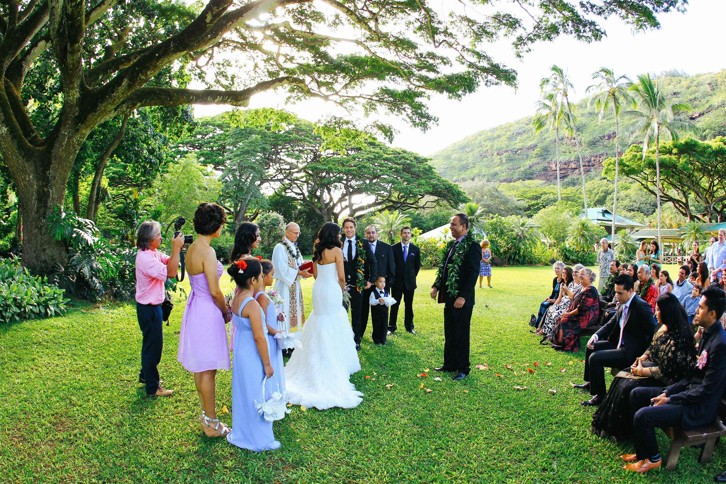 Hawaii Wedding Photography Waimea Valley Ceremony