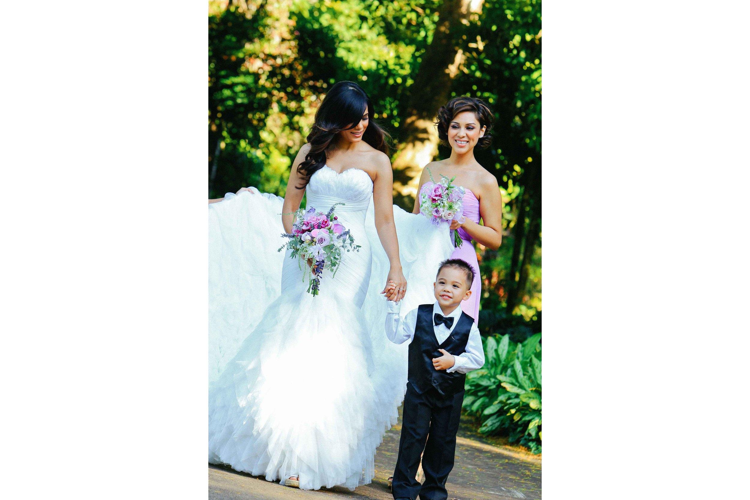 Hawaii Wedding Photography Bride and Ringbearer