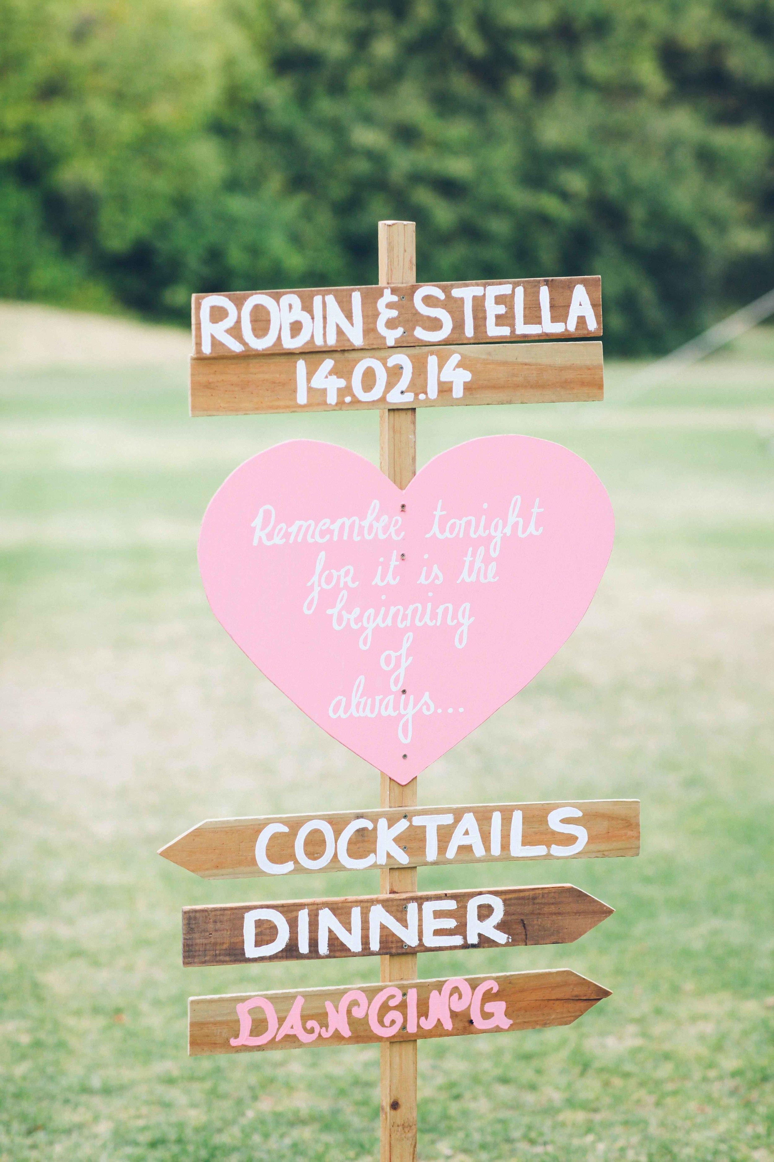 Wedding Photography Handmade Wedding Sign