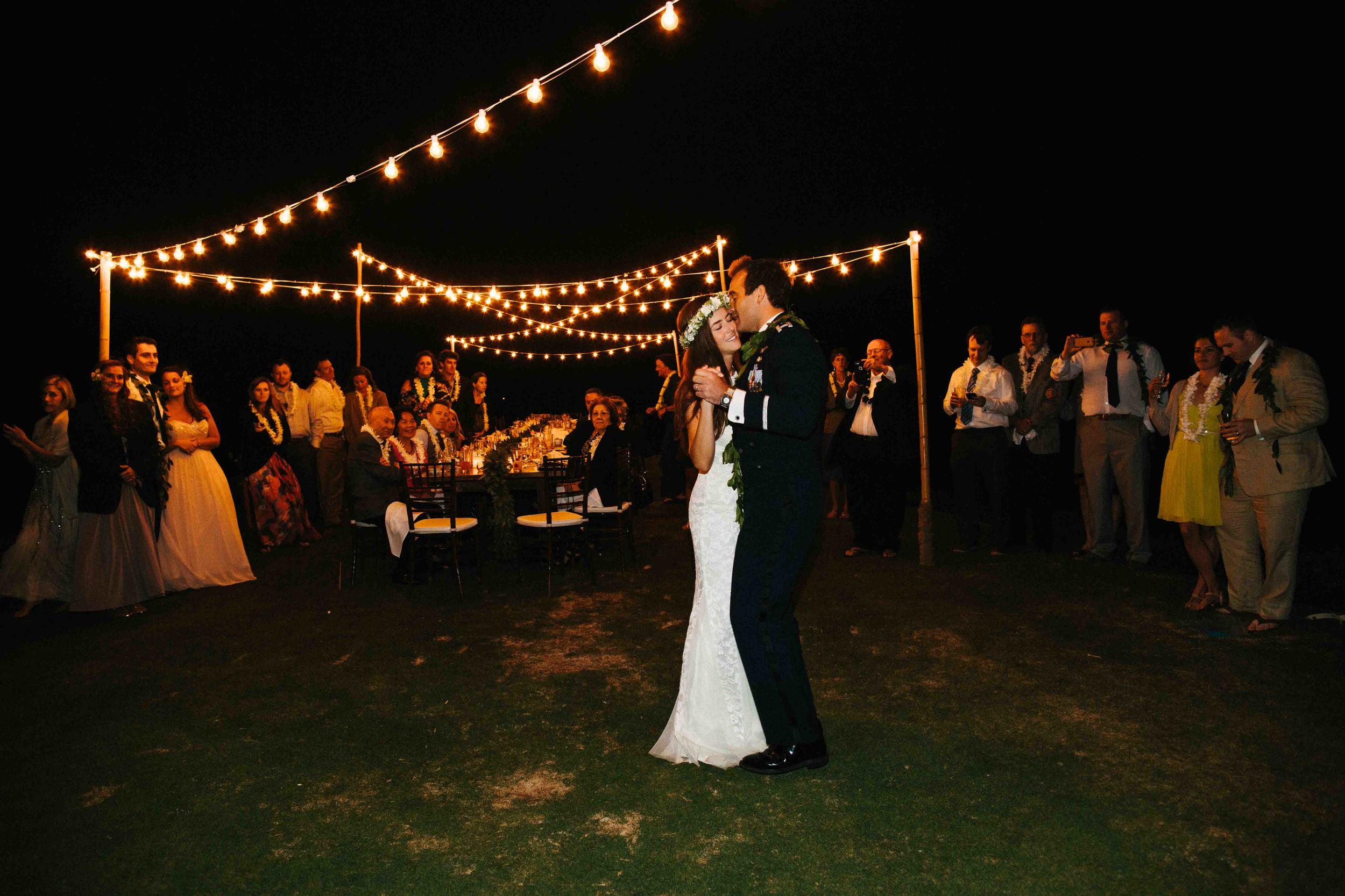 First Dance at an Oahu Wedding Reception