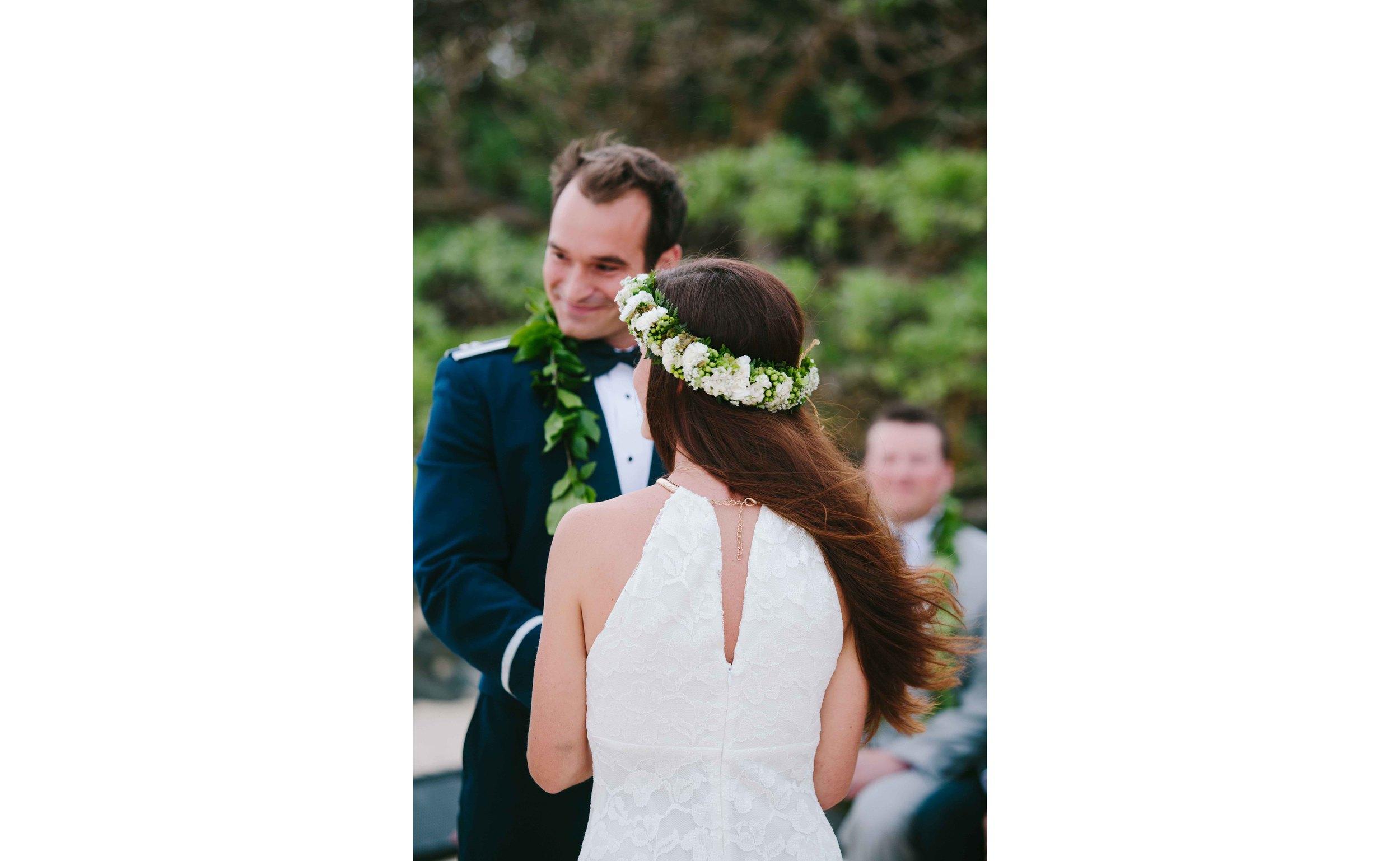 Bride and Groom Hawaii Wedding