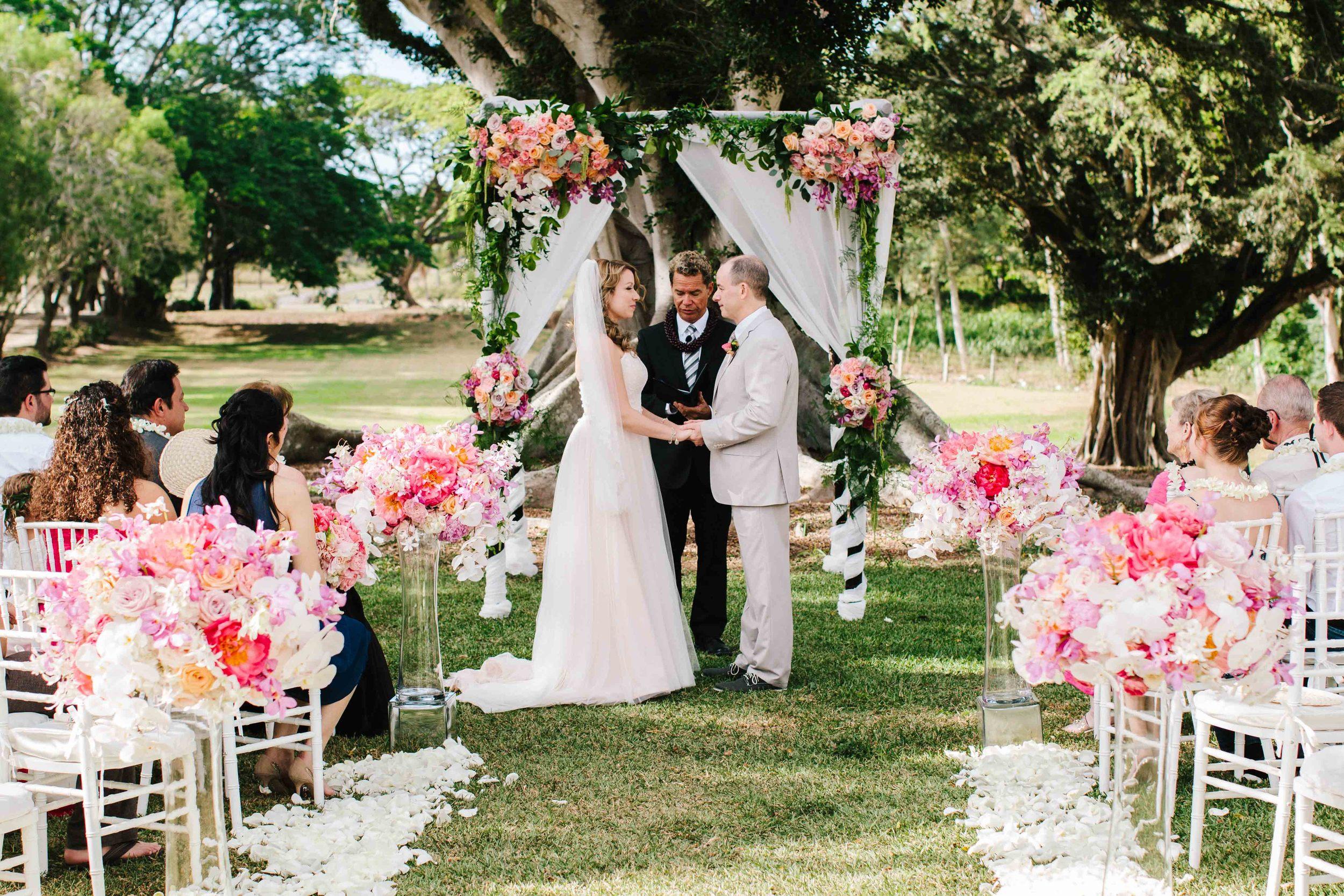 Wedding Ceremony at Dillingham Ranch
