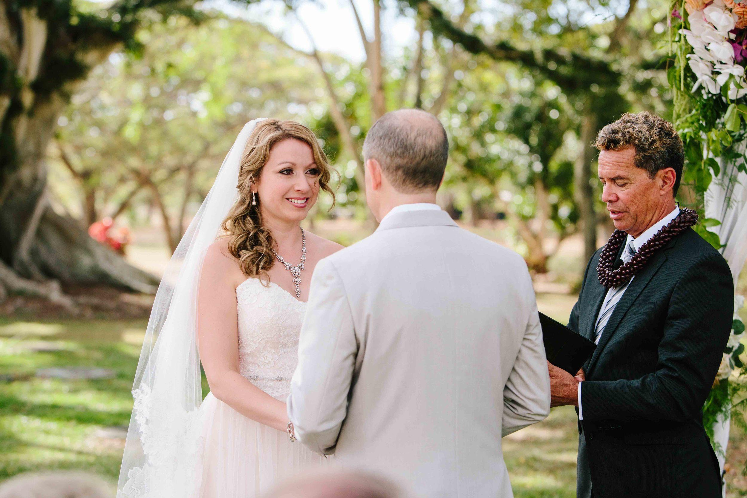 Bride at her Wedding Ceremony