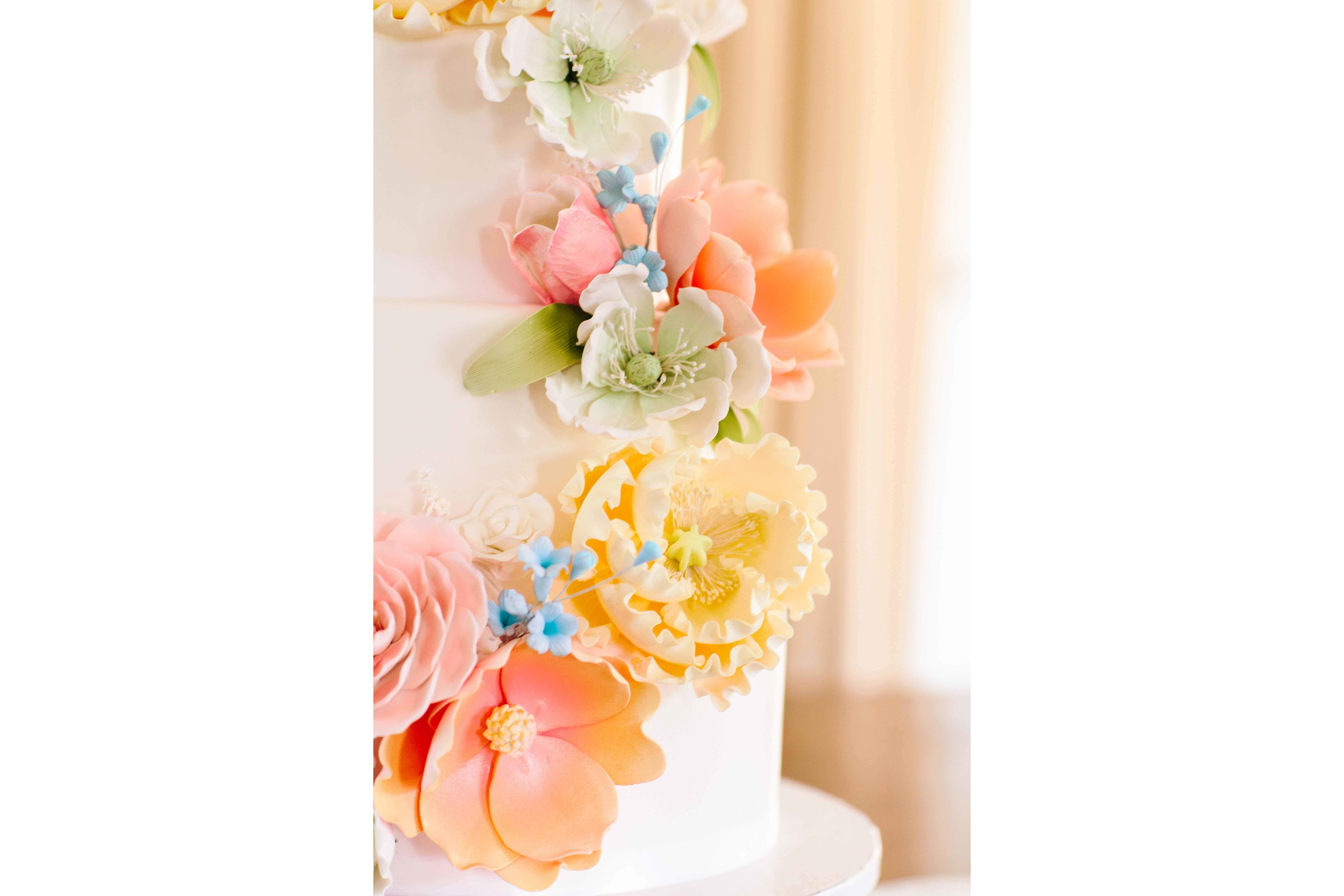 Oahu Wedding Photography - Wedding Cake Detail