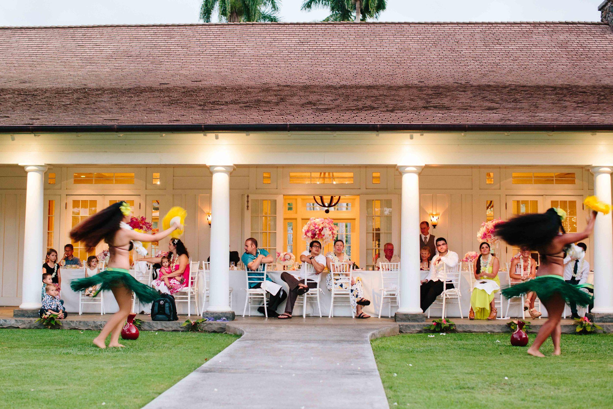 Hula Dancers at Dillingham Ranch Wedding Reception