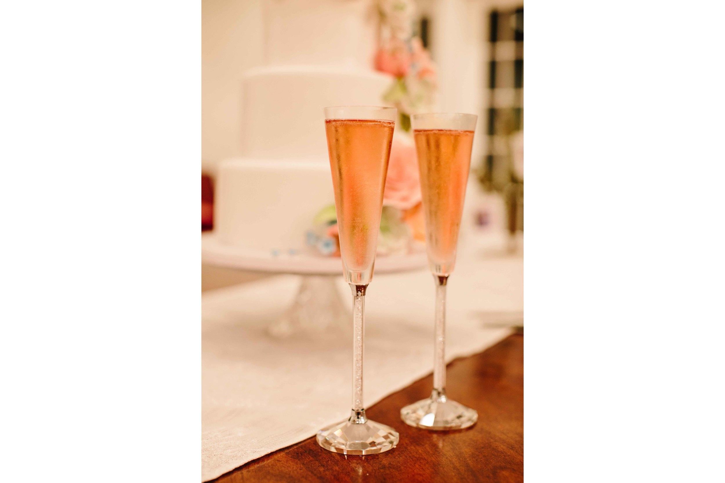 Oahu Wedding Photography - Champagne Glasses
