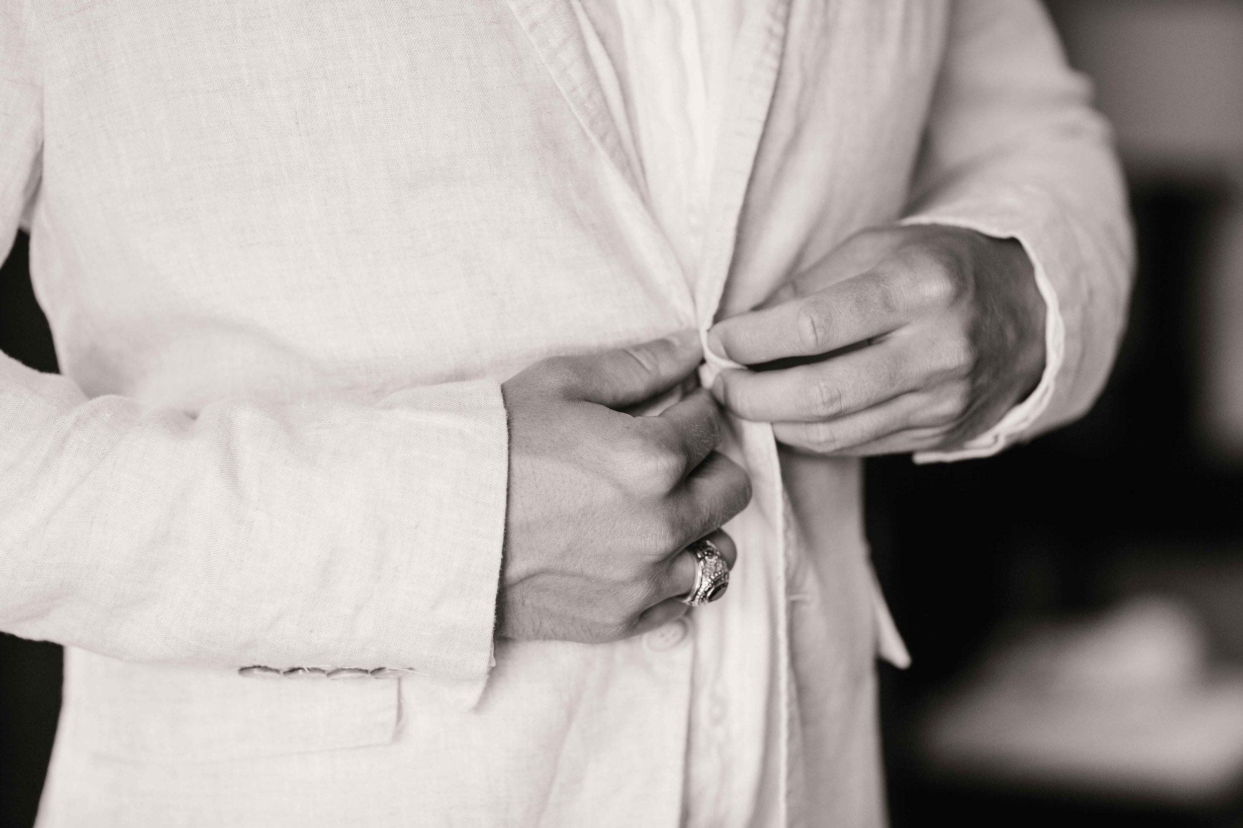 Groom In Tux Before Ceremony, Oahu Wedding Photographer