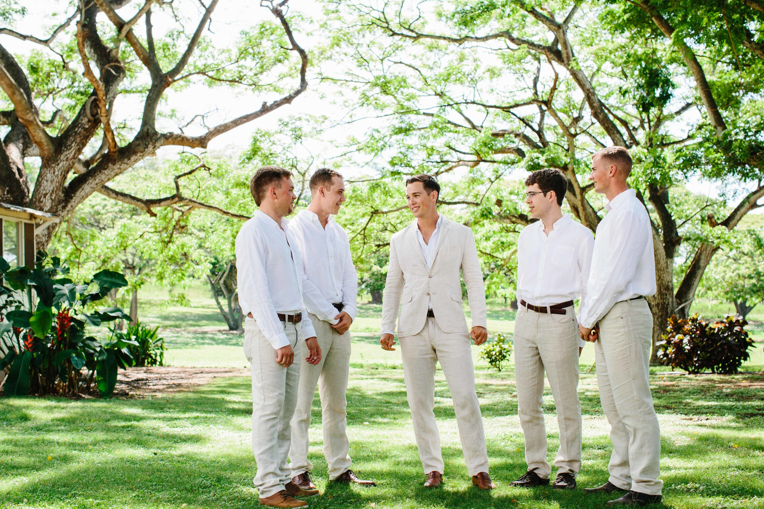 Groomsmen In Hawaii at Dillingham ranch