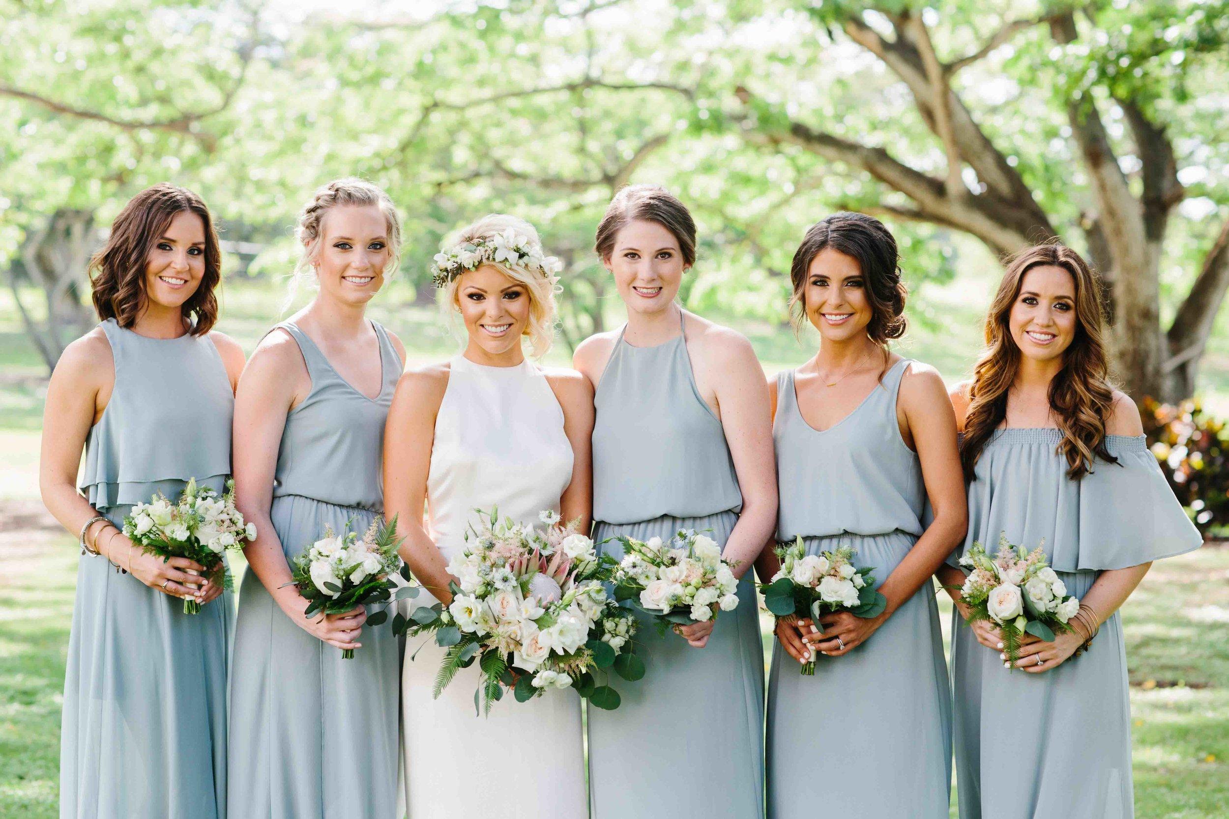 Bride & Bridesmaids at Dillingham Ranch